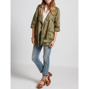 Current/Elliott Infantry Army Green Cotton Oversized Military Jacket 0